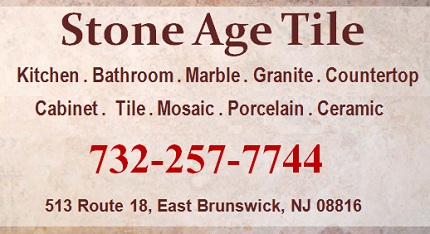 Stone Age Tile: Kitchen, Bathroom, Granite, Marble, Mosaic, Porcelain and Ceramic Tiles; 732-257-7744; 513 Route 18 South, East Brunswick, NJ 08816